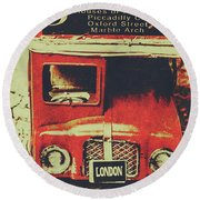 Lanes And Lines Of London Round Beach Towel