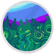 Language Of Forest Round Beach Towel
