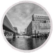 Lansing Michigan Spring 14 Round Beach Towel by John McGraw