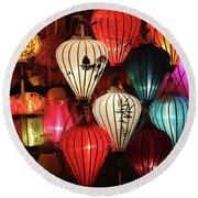 Lanterns Colors Hoi An Round Beach Towel
