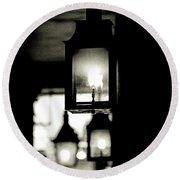 Round Beach Towel featuring the photograph Lanterns Lit by KG Thienemann