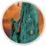 Lares Compitales - Guardian Spirits Of The Crossroads Round Beach Towel