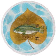 Large Mouth Bass #2 Round Beach Towel by Ralph Root