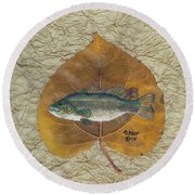 Large Mouth Bass #3 Round Beach Towel by Ralph Root
