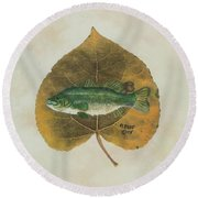 Large Mouth Bass Round Beach Towel