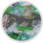 Large Mouth Round Beach Towel