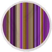 Large Purple Abstract - Three Round Beach Towel