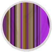 Large Purple Abstract Round Beach Towel