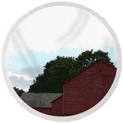 Large Red Barn Round Beach Towel