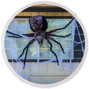 Large Scary Spider  Round Beach Towel