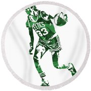 Larry Bird Boston Celtics Pixel Art 10 Round Beach Towel