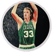 Larry Bird Round Beach Towel