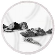 Las Rocas Round Beach Towel by Edward Kreis