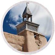 Las Trampas Church Round Beach Towel