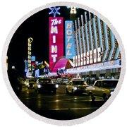 Las Vegas 1964  II Round Beach Towel