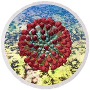 Lassa Virus Round Beach Towel by Russell Kightley