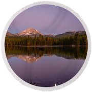 Lassen Peak Round Beach Towel
