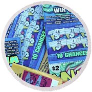 Last Chance Round Beach Towel