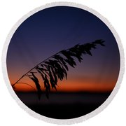 last light at Hilton Head Island Round Beach Towel