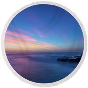 Last Light In April, Sunset Clifs Round Beach Towel