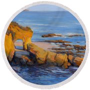 The Golden Hour / Laguna Beach Round Beach Towel
