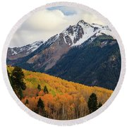 Last Light Of Autumn Round Beach Towel