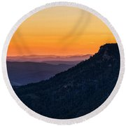 Round Beach Towel featuring the photograph Last Light On The Rim  by Saija Lehtonen