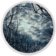 Round Beach Towel featuring the photograph Last Light by Sandy Moulder