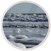 Round Beach Towel featuring the photograph Last Look Of The Season by Greg Graham