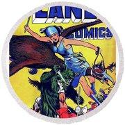 Last Minute Help, Sci-fi Comics Cover Round Beach Towel