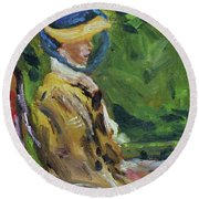 Last Portrait Of His Wife Suzanne., After Manet Round Beach Towel