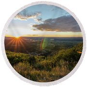 Round Beach Towel featuring the photograph Last Rays by Margaret Pitcher