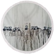 Last Supper Round Beach Towel by Fei A