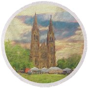 Lasting Impression - Prague Round Beach Towel