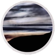 Late Afternoon Glow - Pescadero Round Beach Towel