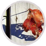 Late Afternoon Shadow Round Beach Towel by J R Seymour