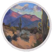 Late Afternoon Tucson 2 Round Beach Towel