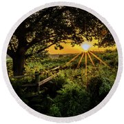 Late Glow Round Beach Towel