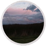 Late Light Round Beach Towel by Laurie Stewart