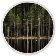 Late Loons Round Beach Towel