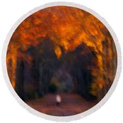 Round Beach Towel featuring the photograph Late Nature Walk. by Luc Van de Steeg