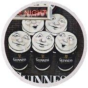 Late Night Guinness Limerick Ireland Round Beach Towel