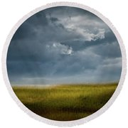Late September Afternoon  Round Beach Towel