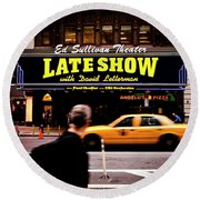 Late Show Round Beach Towel