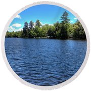 Late Spring On 6th Lake Round Beach Towel