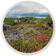 Round Beach Towel featuring the photograph Late Summer In The North by Maciej Markiewicz