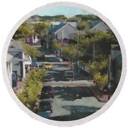 Late Summer Nantucket Round Beach Towel