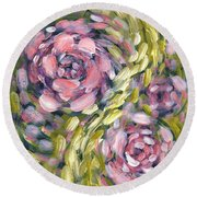 Round Beach Towel featuring the digital art Late Summer Whirl by Holly Carmichael