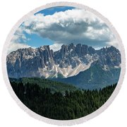 Round Beach Towel featuring the photograph Latemar by Andreas Levi