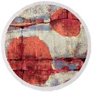 Latent Connections Round Beach Towel